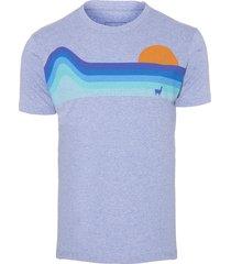 camiseta masculina waves - azul