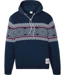 maglione norvegese con cappuccio (blu) - john baner jeanswear