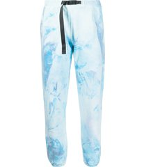 john elliott tie-dye belted track trousers - blue