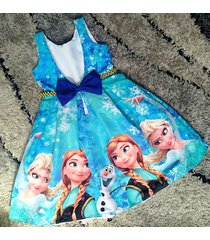 vestido frozen patatitas i2076 azul