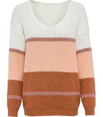maglione a righe con lurex (bianco) - bodyflirt