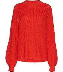 envictor ls knit 5207 stickad tröja röd envii