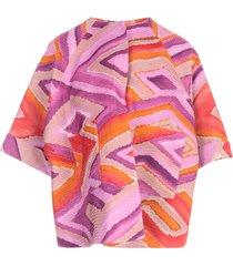 gianluca capannolo mina oversized pleated double 3/4s jacket