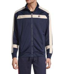 fila men's contrast striped jacket - navy - size s