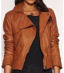 women tan brown real leather jacket, biker leather jacket womens