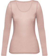 enna, biologisch zijden shirt met lange mouwen, poeder 40