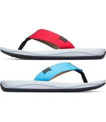 camper twins, sandali uomo, blu/arancione/rosso , misura 46 (eu), k100581-001