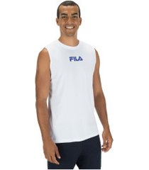 camiseta regata fila summer back - masculina - branco
