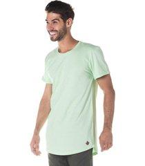 camiseta masculina alongada verde neon - area verde - multicolorido - masculino - dafiti