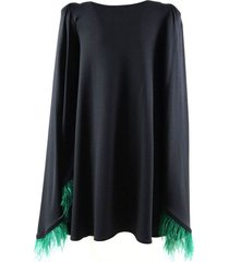 short cape dress with fringes