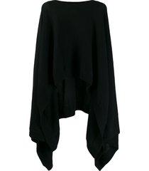 le kasha viennes asymmetric cape-jumper - black