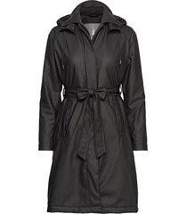 w trench coat regenkleding zwart rains