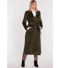płaszcz z paskiem w kolorze khaki