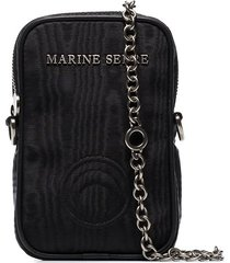marine serre one pocket chain phone case - black