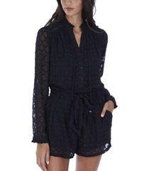 allison new york women's diamond textured blouse