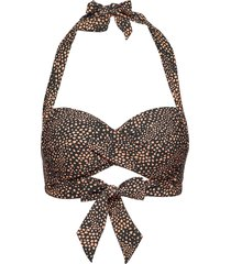 twist soft cup halter bikinitop brun seafolly