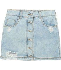 minifalda indigo claro offcorss