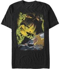 disney men's sleepy beauty poster, short sleeve t-shirt