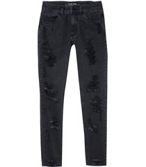 calça john john midi skinny bordeus sarja preto feminina (preto, 50)