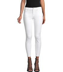 7 for all mankind women's gwenevere ankle jeans - white - size 24 (0)