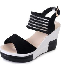 sandalias de plataforma con punta abierta para mujer sandalias de