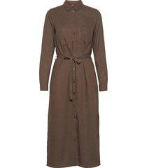 pzbianca shirtdress knälång klänning brun pulz jeans