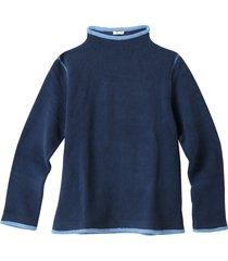 fleece pullover, nachtblauw/jeansblauw l
