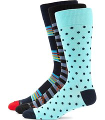 unsimply stitched men's 3-pack multicolored crew socks