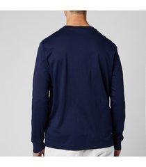polo ralph lauren men's custom slim fit long sleeve t-shirt - french navy - xxl