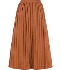 sofie d'hoore pleated skirt - brown