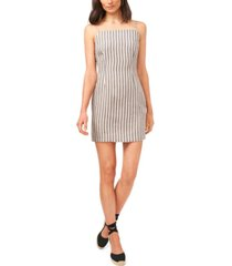 1.state cotton striped bodycon dress