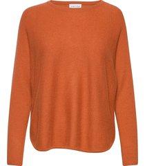 curved sweater gebreide trui oranje davida cashmere