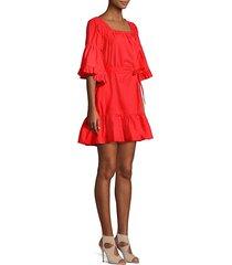 colstona tie-waist poplin dress