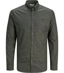 jack & jones 12182564 overhemd met buttondown army green -