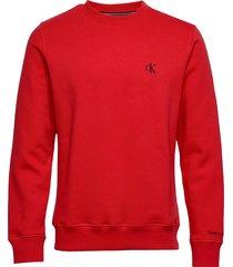 ck essential reg cn sweat-shirt trui rood calvin klein jeans