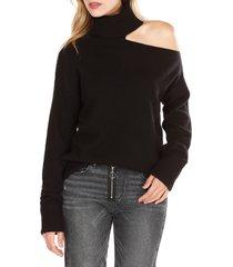 women's paige raundi cutout shoulder sweater, size medium