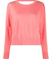 diesel ring-detail knit jumper - pink