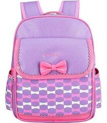 mochilas escolares bolsos escuela primaria school bag 7-10 a?os púrpura