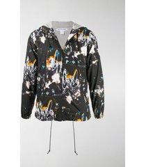 comme des garçons shirt abstract print lightweight jacket