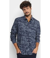 camisa forum manga longa regular fit masculina