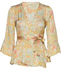 deep groove garden blouse blouse lange mouwen oranje odd molly
