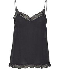 pouline t-shirts & tops sleeveless svart custommade