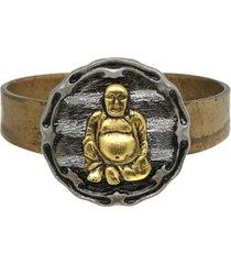 t.r.u. by 1928 matte 14 k gold dipped hinged bracelet