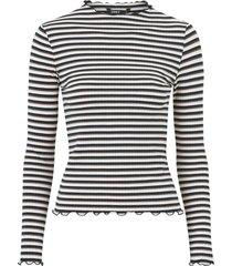 topp onlemma l/s high neck stripe top
