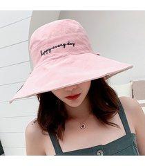 sombrero del cubo del bordado del pop de las mujeres sombrero de pescador
