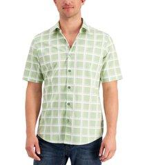 alfani men's windowpane shirt, created for macy's