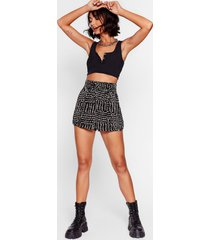 womens spot to be you high-waisted shorts - black
