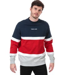 mens retro colourblock sweatshirt