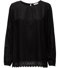sebina blouse lange mouwen zwart signal