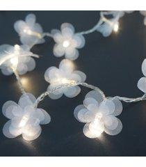 cordão de luz - luz de fada crie casa organza flower branco